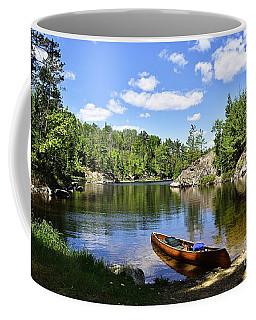 Canoe At The Portage Landing -- Slim Lake Coffee Mug