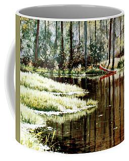 Canoe On Pond Coffee Mug