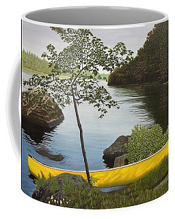 Canoe On The Bay Coffee Mug by Kenneth M  Kirsch