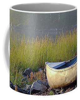 Canoe On The Rocks Coffee Mug
