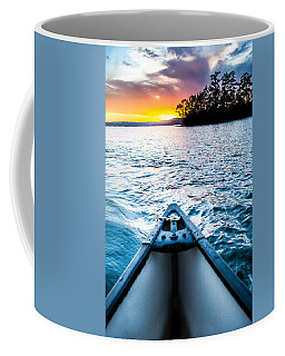 Canoeing In Paradise Coffee Mug by Parker Cunningham