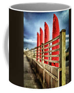 Canoes And Walkway, Surf City, North Carolina Coffee Mug