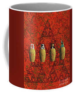 Canopic Jars, Ancient Egypt Coffee Mug