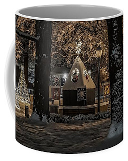Canopy Of Christmas Lights Coffee Mug