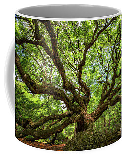 Canopy Of Color At Angel Oak Tree  Coffee Mug by Michael Ver Sprill