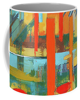 Coffee Mug featuring the painting Cantaloupe Island by Erin Fickert-Rowland