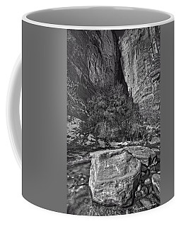 Coffee Mug featuring the photograph Canyon Corner - Bw by Christopher Holmes