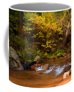 Coffee Mug featuring the photograph Canyon Stream In Autumn by Diane Alexander