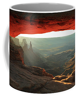 Canyonlands View Through Mesa Arch Coffee Mug by Roupen  Baker