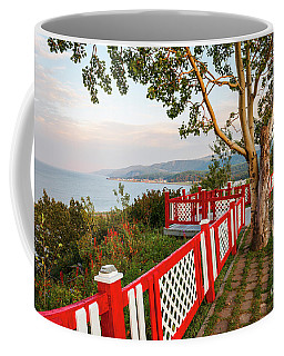 Coffee Mug featuring the photograph Cap-de-la-madeleine Lookout by Elena Elisseeva