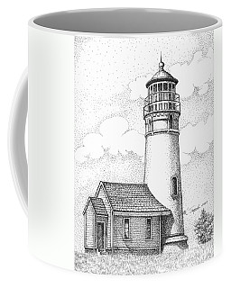 Cape Blanco Lighthouse Coffee Mug by Lawrence Tripoli