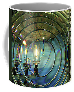 Cape Blanco Lighthouse Lens Coffee Mug by James Eddy