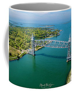 Coffee Mug featuring the photograph Cape Cod Canal Railroad by Michael Hughes