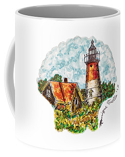 Coffee Mug featuring the painting Cape Cod Lighthouse by Monique Faella