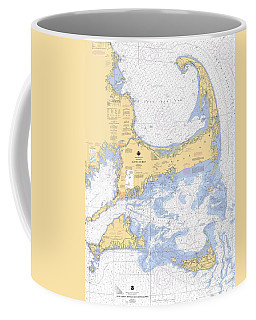Cape Cod, Martha's Vineyard And Nantucket Nautical Chart Coffee Mug