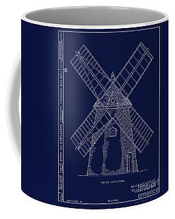 Historic Cape Cod Windmill Blueprint Coffee Mug by John Stephens