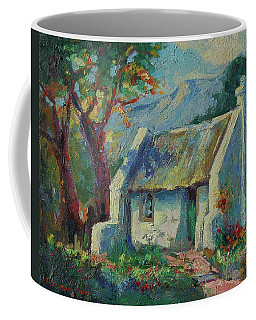 Cape Cottage With Mountains Art Bertram Poole Coffee Mug