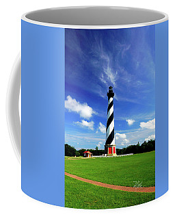 Coffee Mug featuring the photograph Cape Hatteras Lighthouse by Meta Gatschenberger