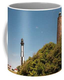 Cape Henry Lighthouses Old And New Coffee Mug