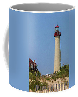 Cape May Lighthouse Vertical Coffee Mug