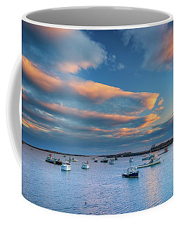 Coffee Mug featuring the photograph Cape Porpoise Harbor At Sunset by Rick Berk