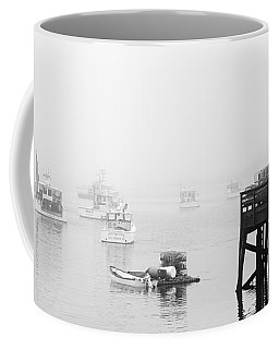Cape Porpoise Lobster Boats In Fog Coffee Mug