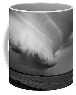 Coffee Mug featuring the photograph Cape Tyron Vortex Black And White by Edward Fielding