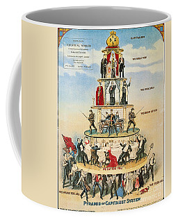 Coffee Mug featuring the photograph Capitalist Pyramid, 1911 - To License For Professional Use Visit Granger.com by Granger
