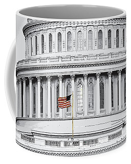 Coffee Mug featuring the photograph Capitol Flag by John Schneider