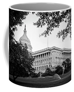 Coffee Mug featuring the photograph Capitol Lawn In Black And White by Greg Mimbs