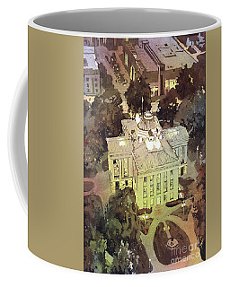 Coffee Mug featuring the painting Capitol Of Stupid- Raleigh, Nc by Ryan Fox