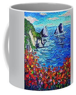 Capri Faraglioni 2 Italy Colors Modern Impressionist Palette Knife Oil Painting Ana Maria Edulescu  Coffee Mug