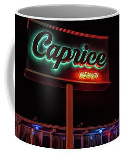 Coffee Mug featuring the photograph Caprice Hotel Wildwood by Kristia Adams