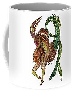Coffee Mug featuring the drawing Capricorn by Barbara McConoughey