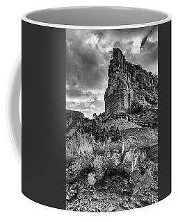 Coffee Mug featuring the photograph Caprock And Cactus by Stephen Stookey
