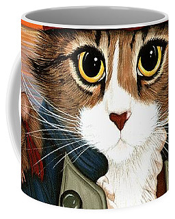 Captain Leo - Pirate Cat And Rat Coffee Mug