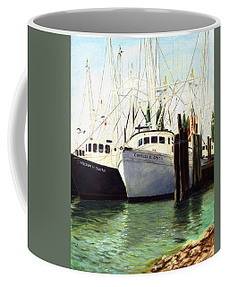 Captains Smith Morehead City North Carolina Original Fine Art Oil Painting Coffee Mug