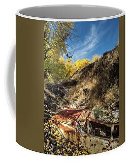 Car And Autumn Leaves Coffee Mug
