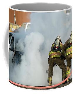 Coffee Mug featuring the photograph Car Fire by Mike Dawson