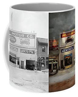 Car - Garage - Hendricks Motor Co 1928 - Side By Side Coffee Mug by Mike Savad