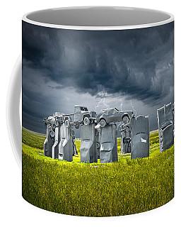 Car Henge In Alliance Nebraska After England's Stonehenge Coffee Mug