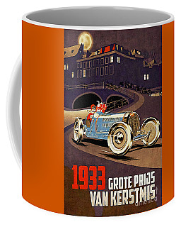 Car Racing Christmas Poster Of The 30s Coffee Mug