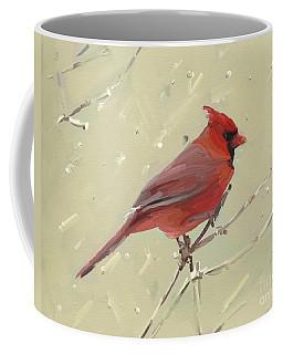 Cardinal Coffee Mug by Carrie Joy Byrnes