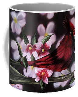 Coffee Mug featuring the painting Cardinal by Dianna Lewis