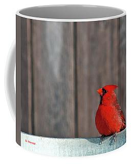 Cardinal Drinking Coffee Mug