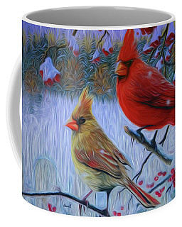 Cardinal Family Coffee Mug