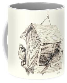 Cardinal Feeder Coffee Mug