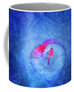 Cardinal In A Heart Coffee Mug