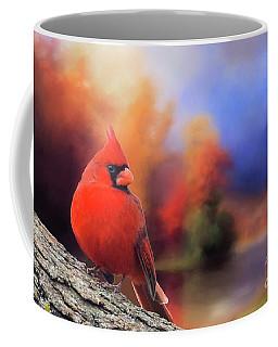 Cardinal In Autumn Coffee Mug