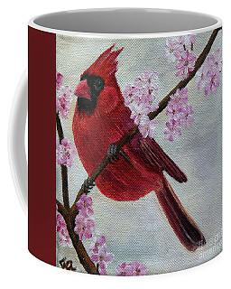Cardinal In Cherry Blossoms Coffee Mug by Jane Axman